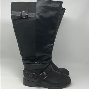 Torrid black multi strap black boots